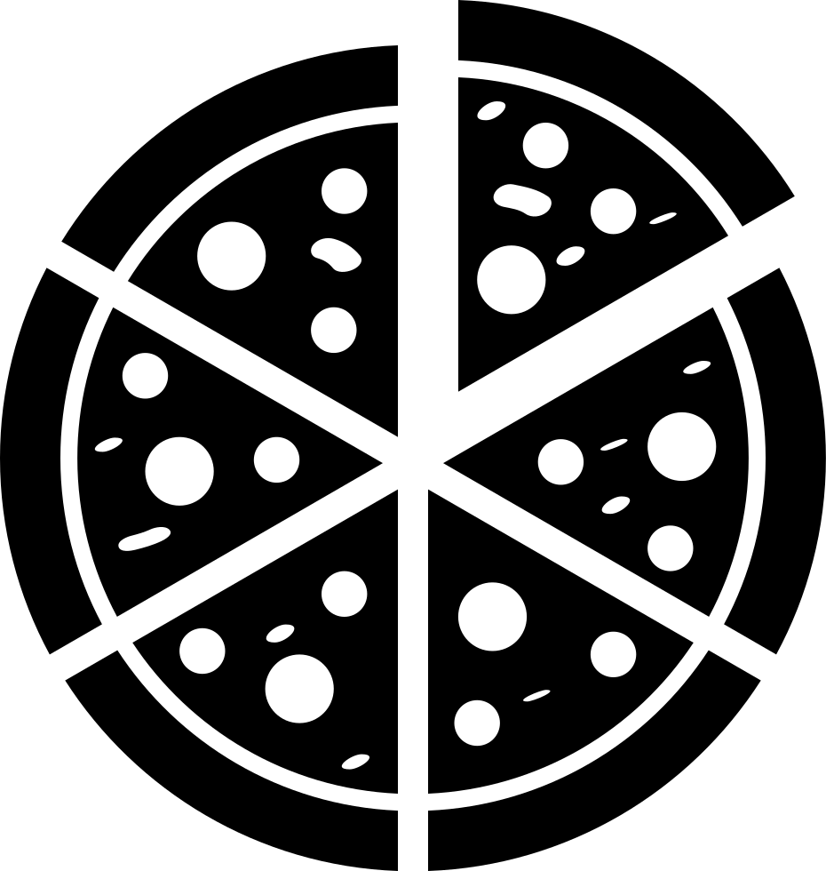 Italian Pizza Cut Into Slices Svg Png Icon Free Download