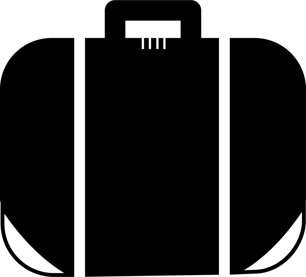 Suitcase With White Bands And Details