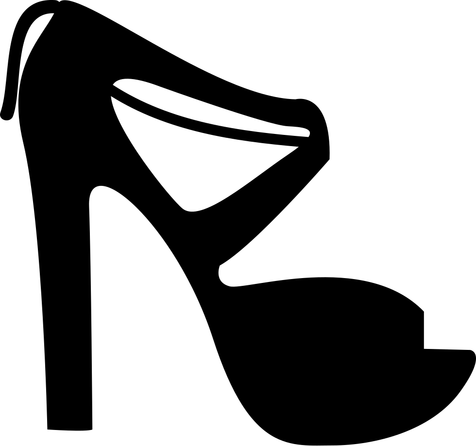High Heel Shoe With Purse Clip Art