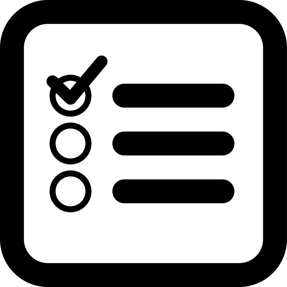 Checklist Square Interface Symbol Of Rounded Corners