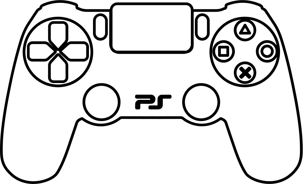 ps4 controller coloring page playstation 3 controller