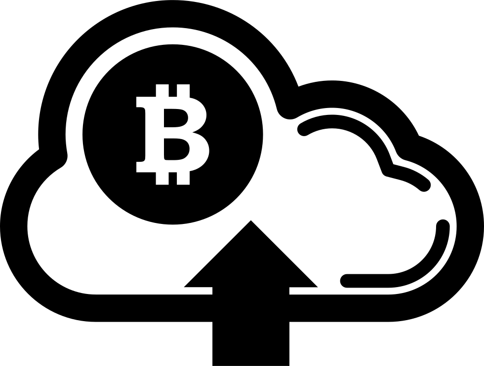 Bitcoin On Cloud With Up Arrow Symbol