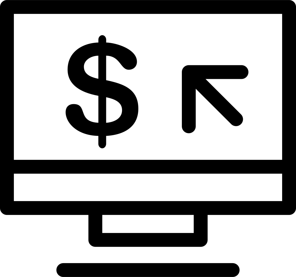 Computer Cash Symbol In A Circle