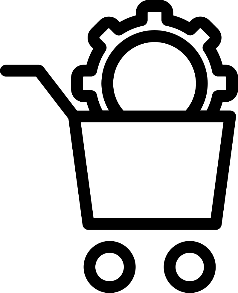 Shopping Basket Configuration Outline Interface Symbol In A Circle