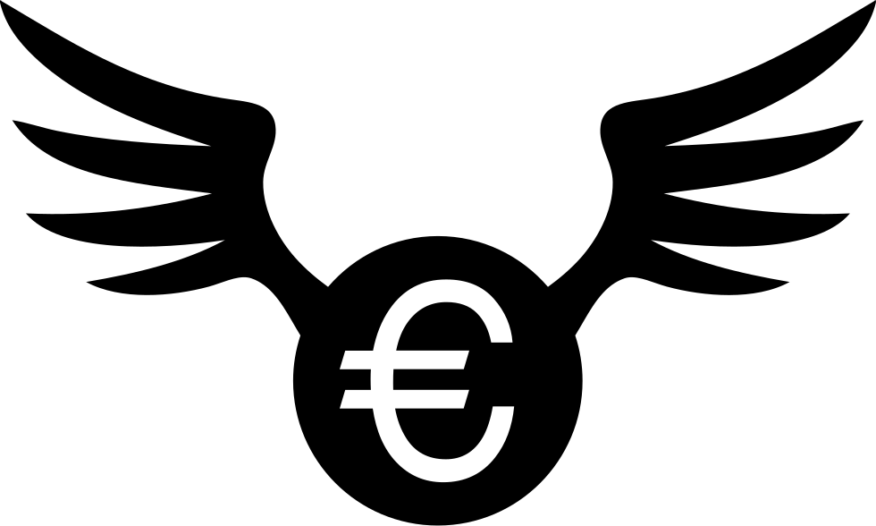 Euro Coin With Wings