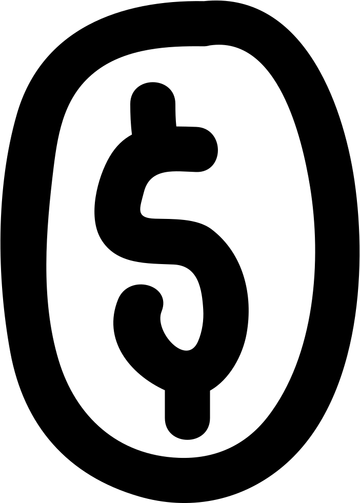 Dollar Sign Inside Oval Shape