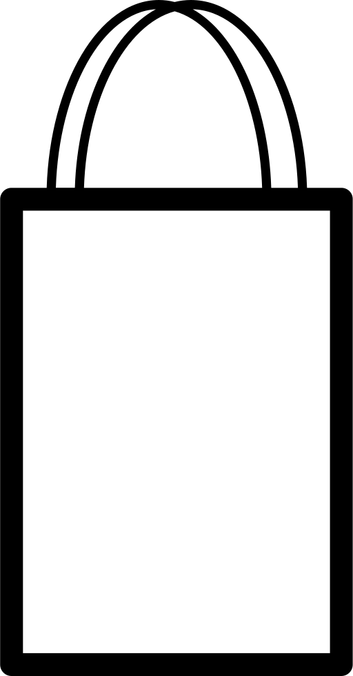 Shopping Bag Outline With Double Handle