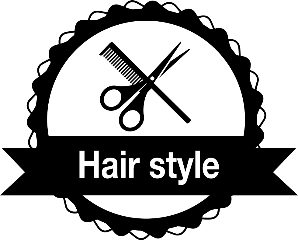 Hair Style Badge For Commercial Salon