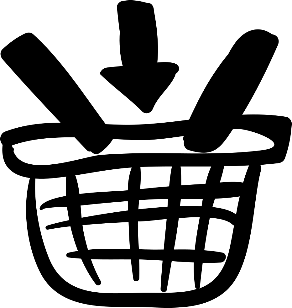 Add To Shopping Basket Handmade Commercial Symbol