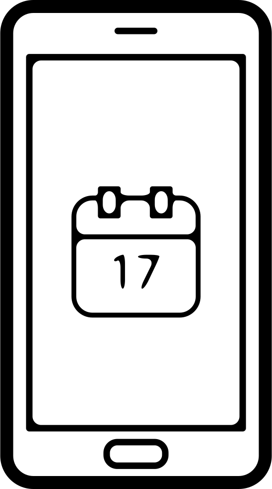Mobile Phone Screen With Calendar Page On Day 17