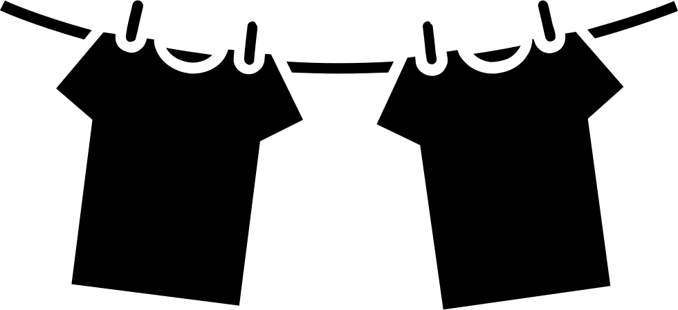 Clothes Hanging On Rope For Drying