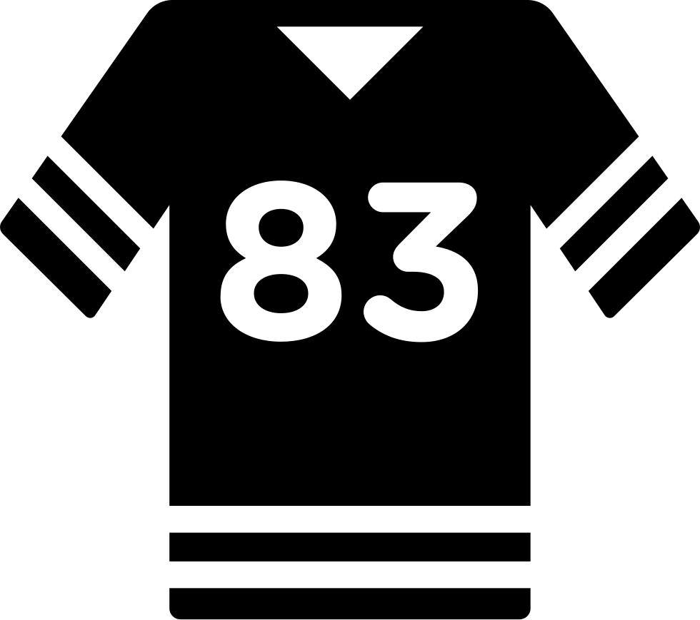 Football T-shirt With Number 83