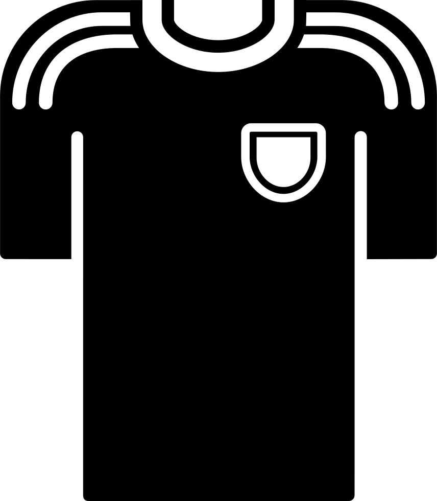 Black T-shirt Of A Soccer Player