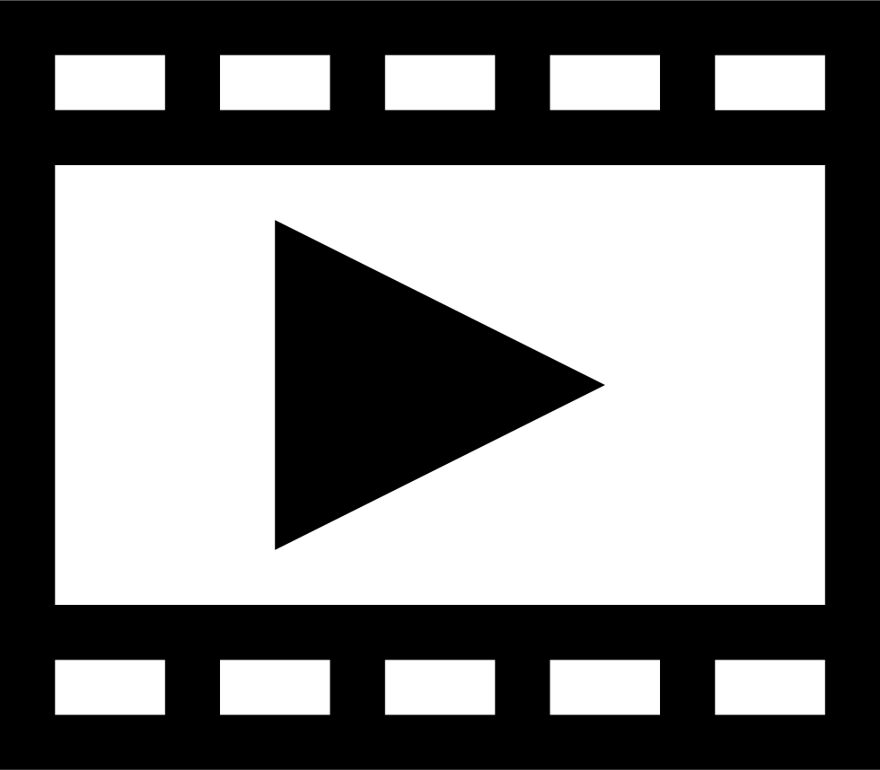 Film Strip With Play Triangle Svg Png Icon Free Download ...