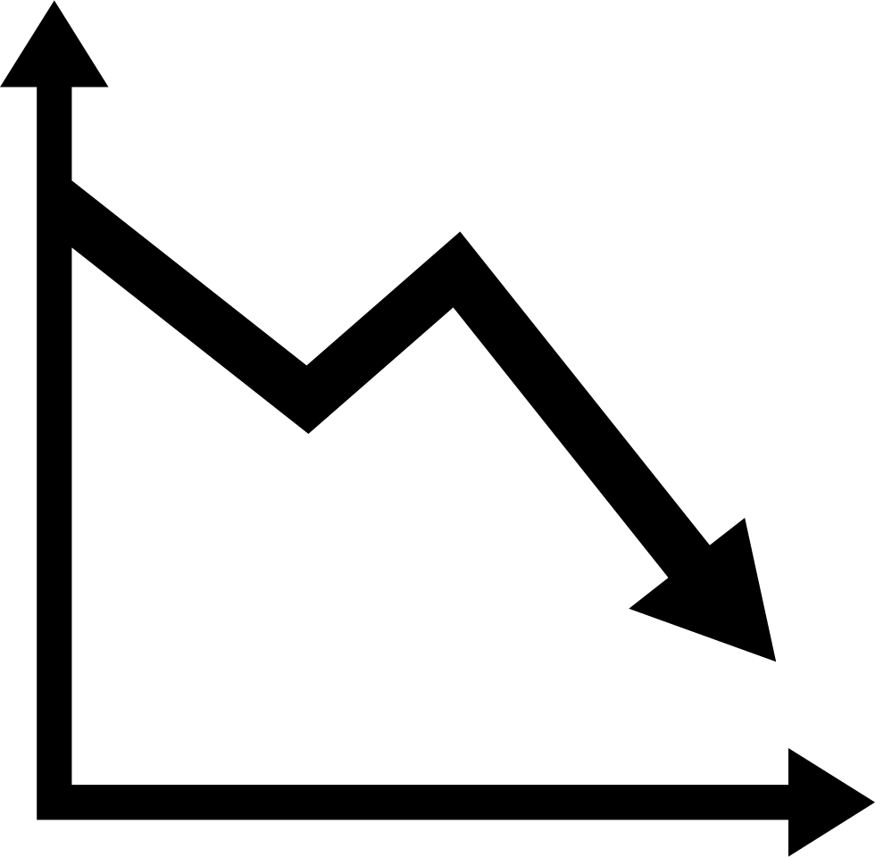 Descending Graphic Chart Line Interface Symbol
