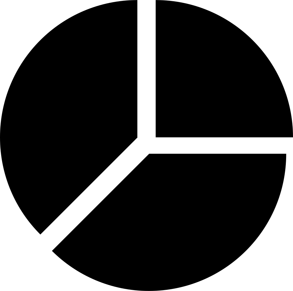 Pie Chart Divided In Three Equal Sections