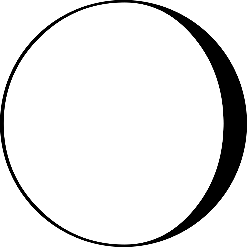 Moon Phase Symbol With Craters