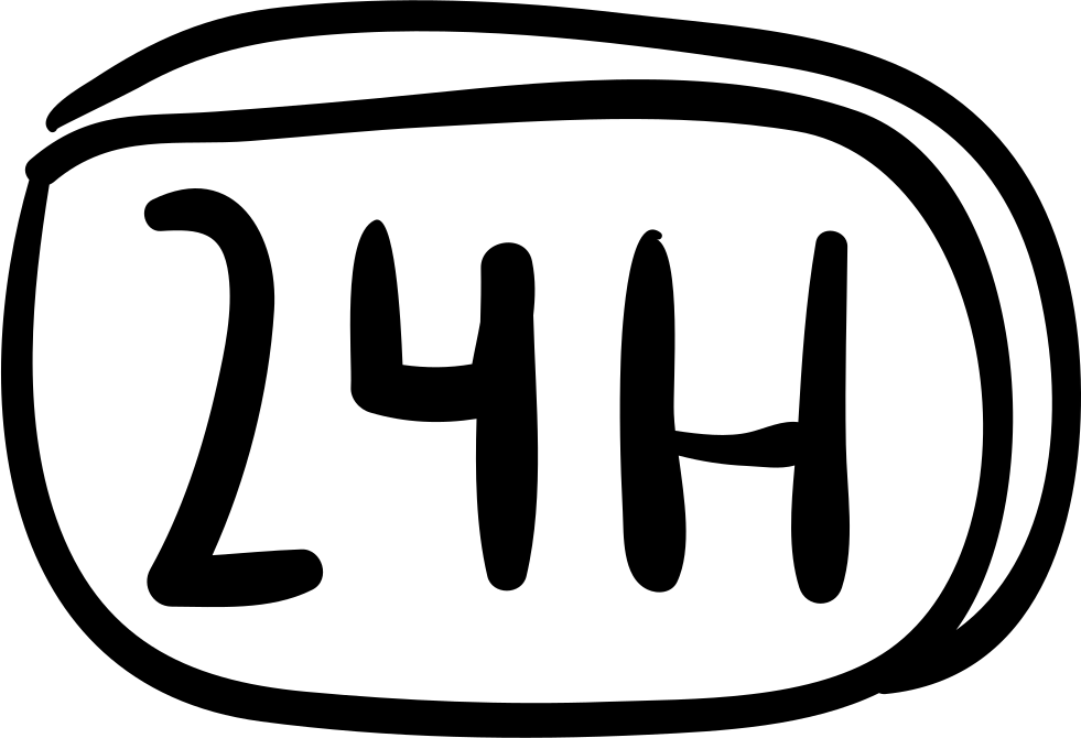 24 Hours Hand Drawn Commercial Signal
