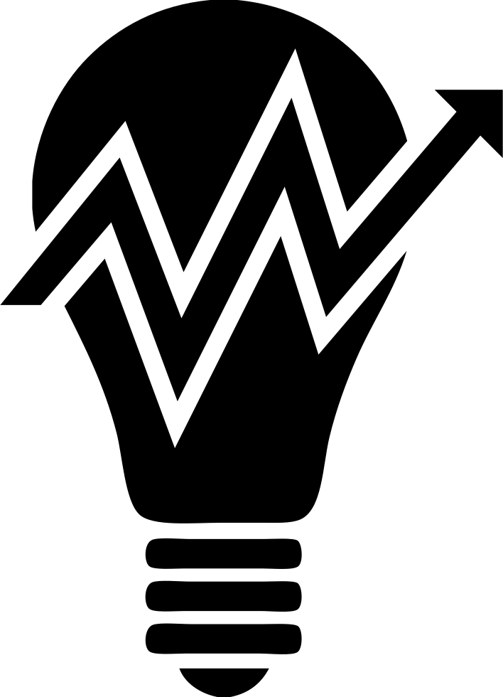 Light Bulb With Ascent Arrow