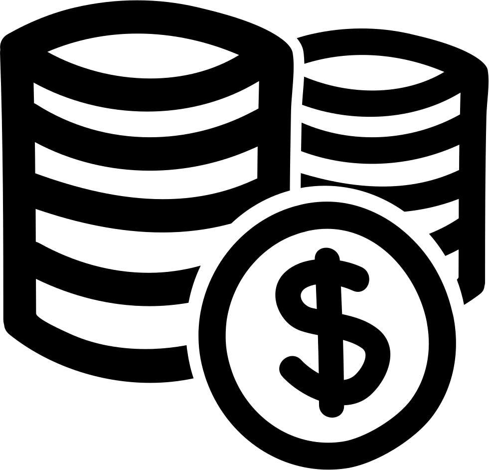 Coins Stacks Of Dollars Hand Drawn Commercial Symbol