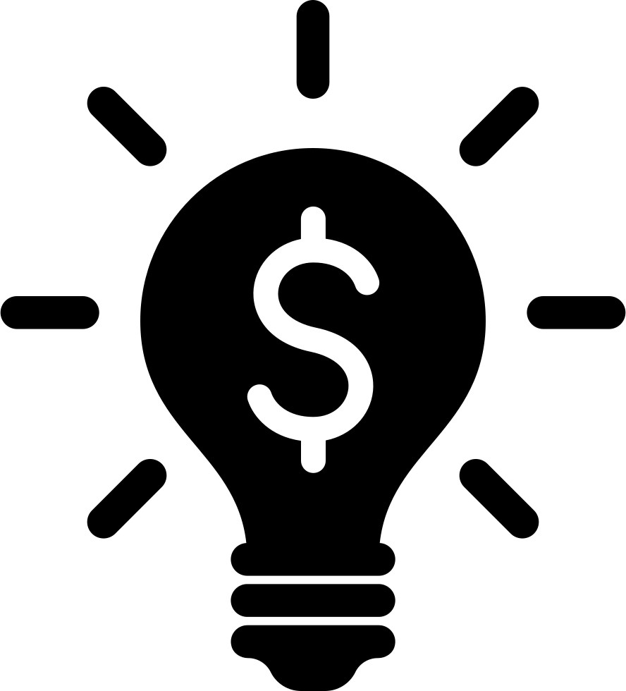 Money Idea Symbol Of A Lightbulb On