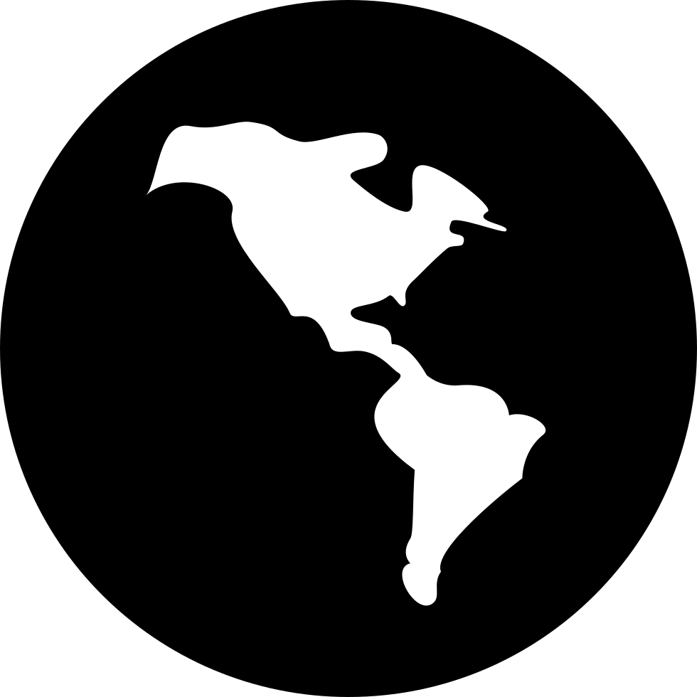Dark Earth Globe Symbol Of International Business