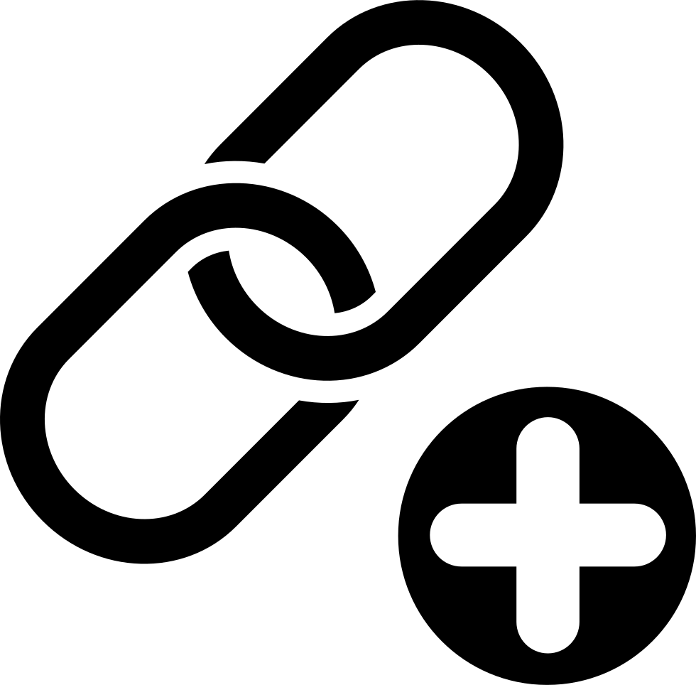 Link building symbol of two chain links union with a plus sign svg link building symbol of two chain links union with a plus sign biocorpaavc Gallery
