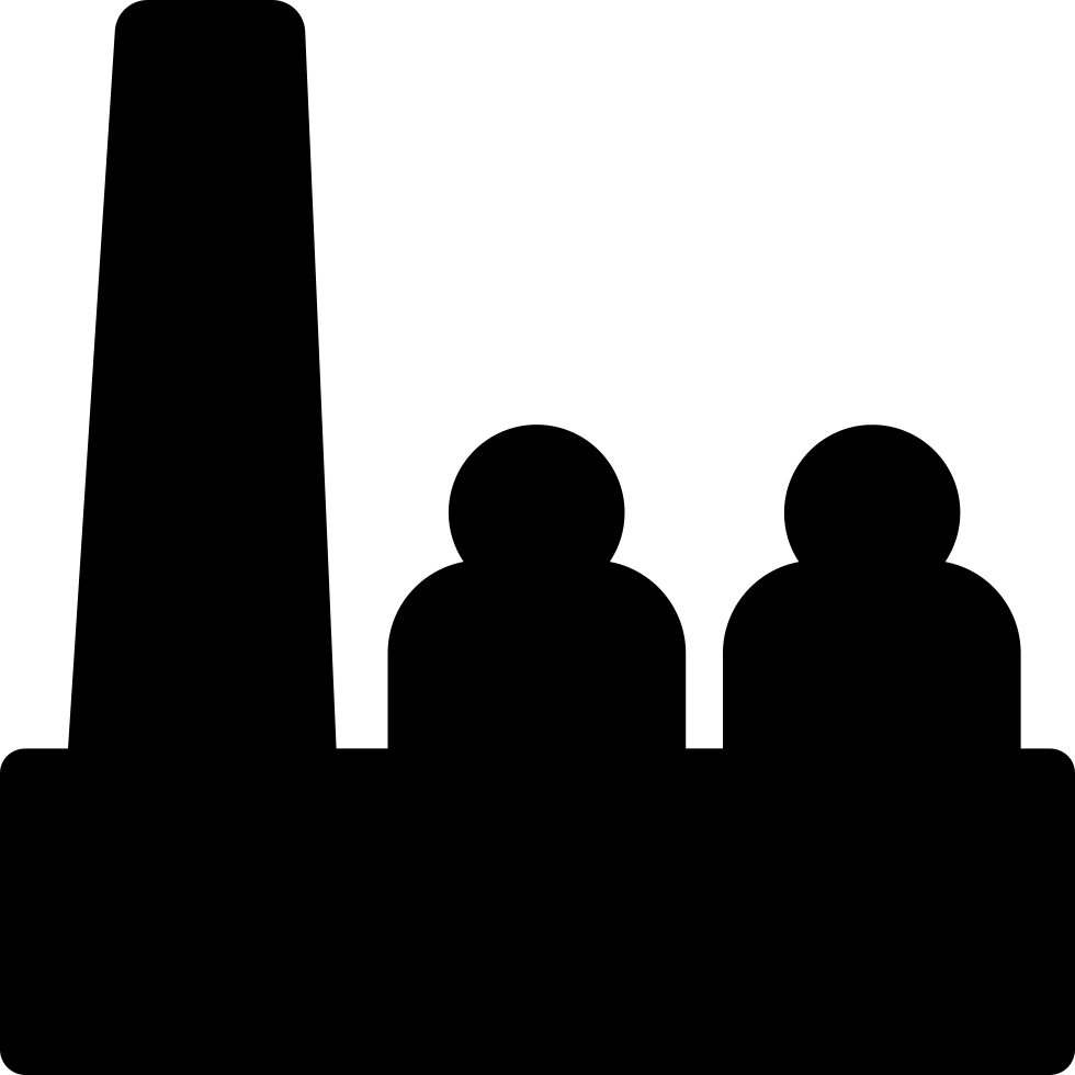 Factory Workers Silhouette