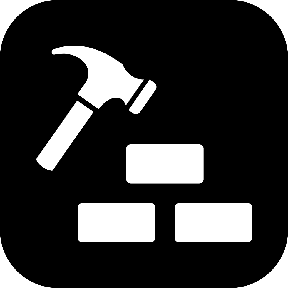Hammer And Three Bricks Construction Symbol