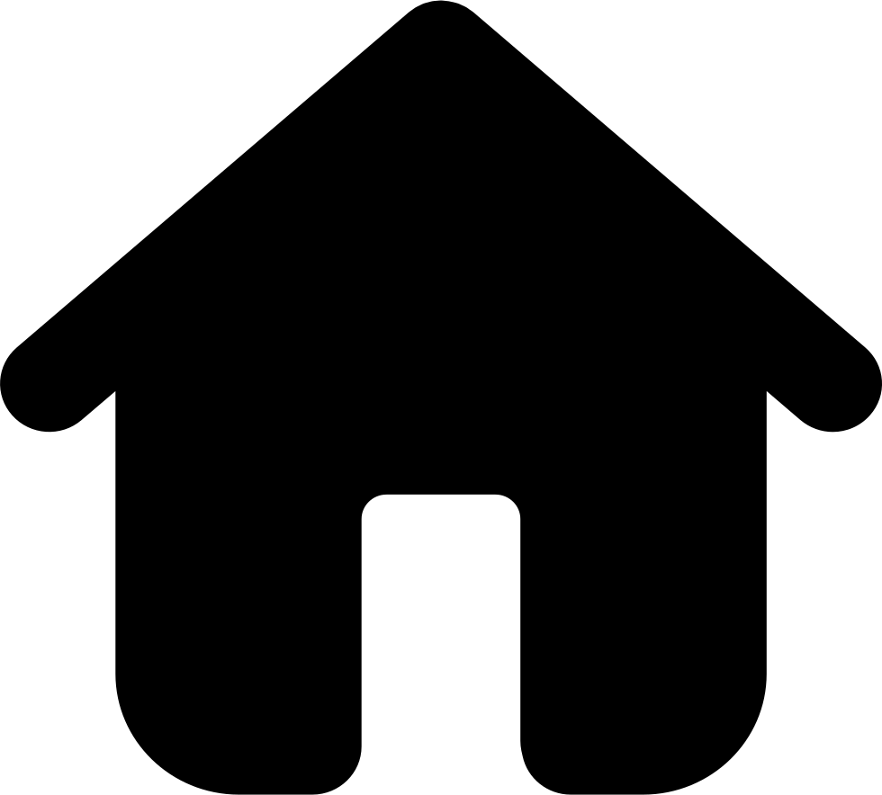Home Black Building Symbol