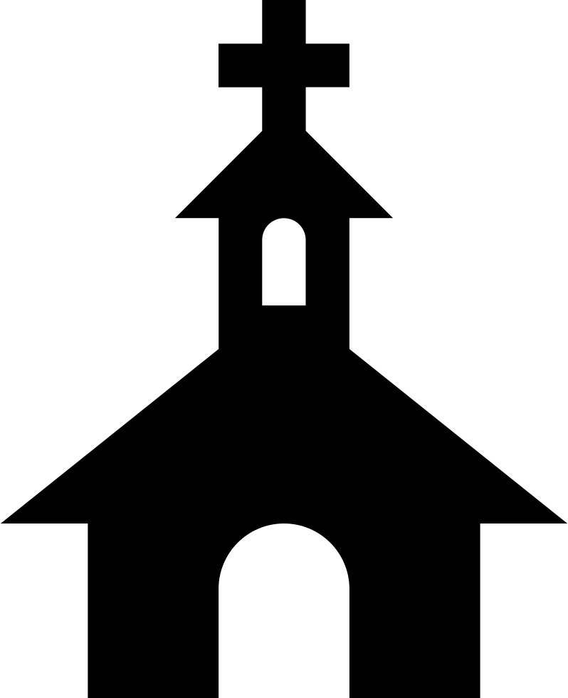 Church Black Silhouette With A Cross On Top