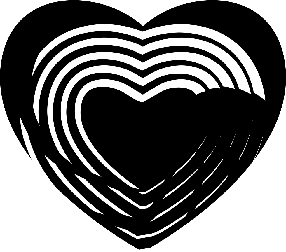 Heart With Art Lines Inside