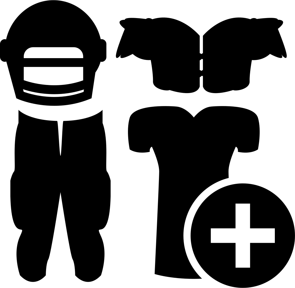Rugby Gear With Plus Sign