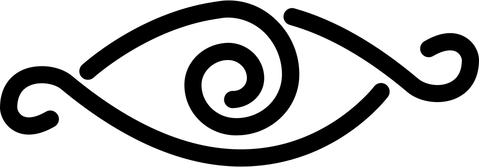 Eye With Curl Lines Design Variant