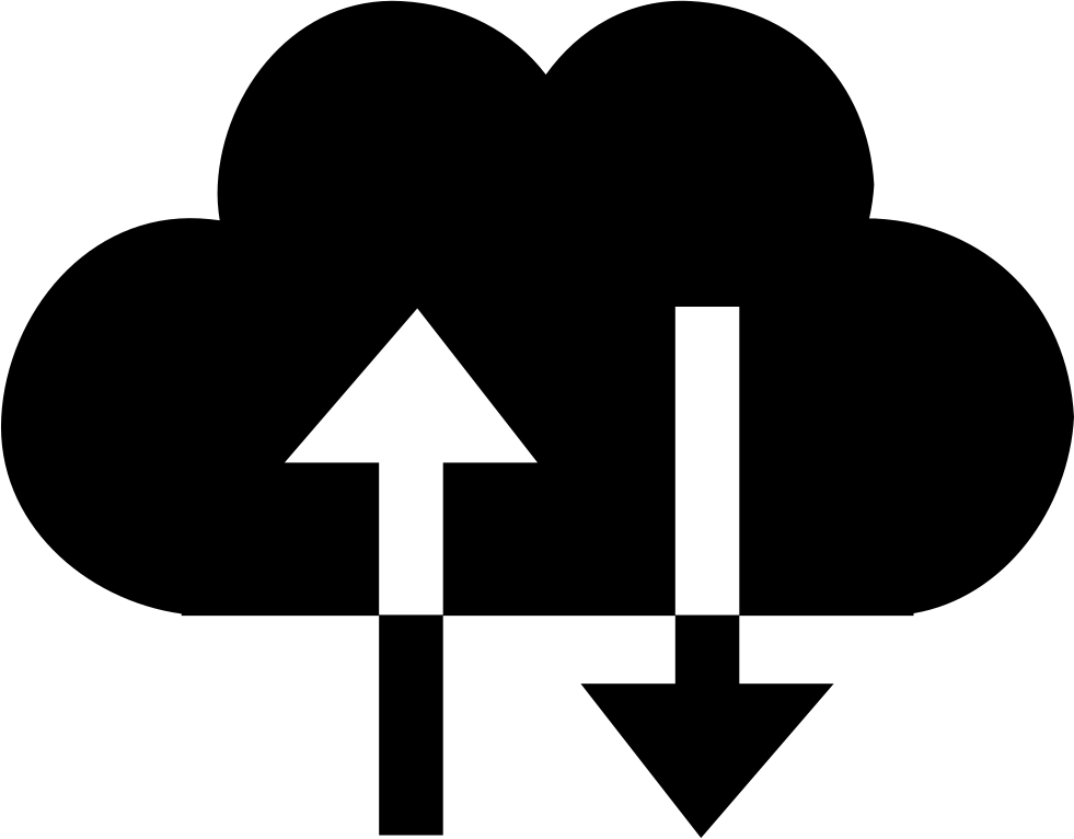 Cloud Exchange Symbol With Up And Down Arrows Couple