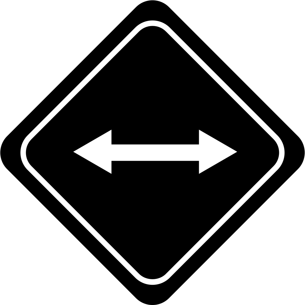 Traffic Signal With Double Arrow To Opposite Directions