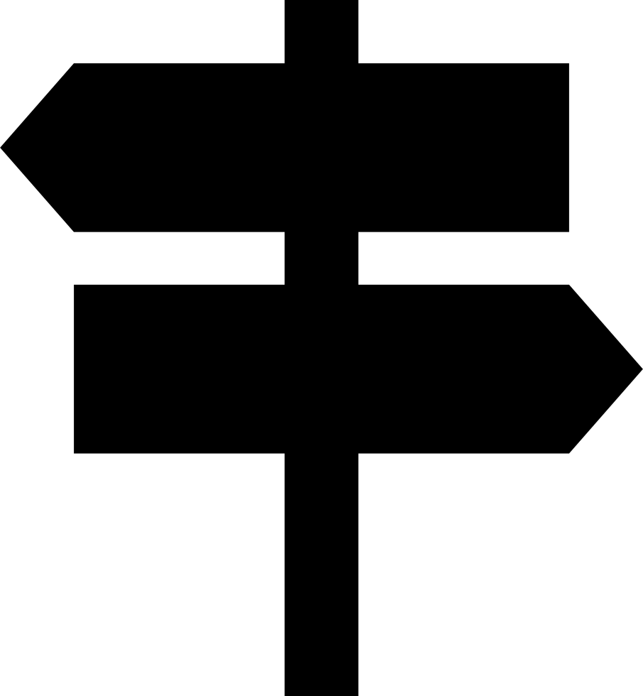 Two Opposite Arrows Signal