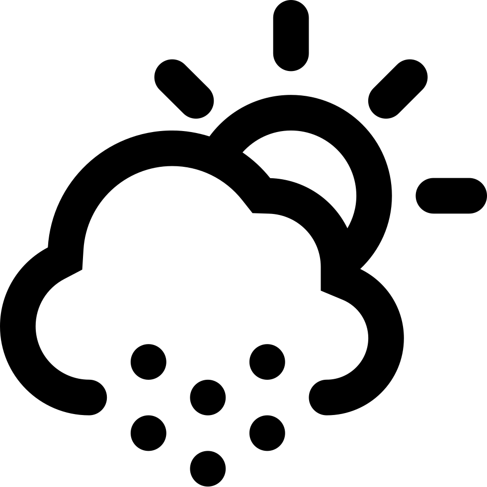 Cloudy Hail Day Weather Symbol