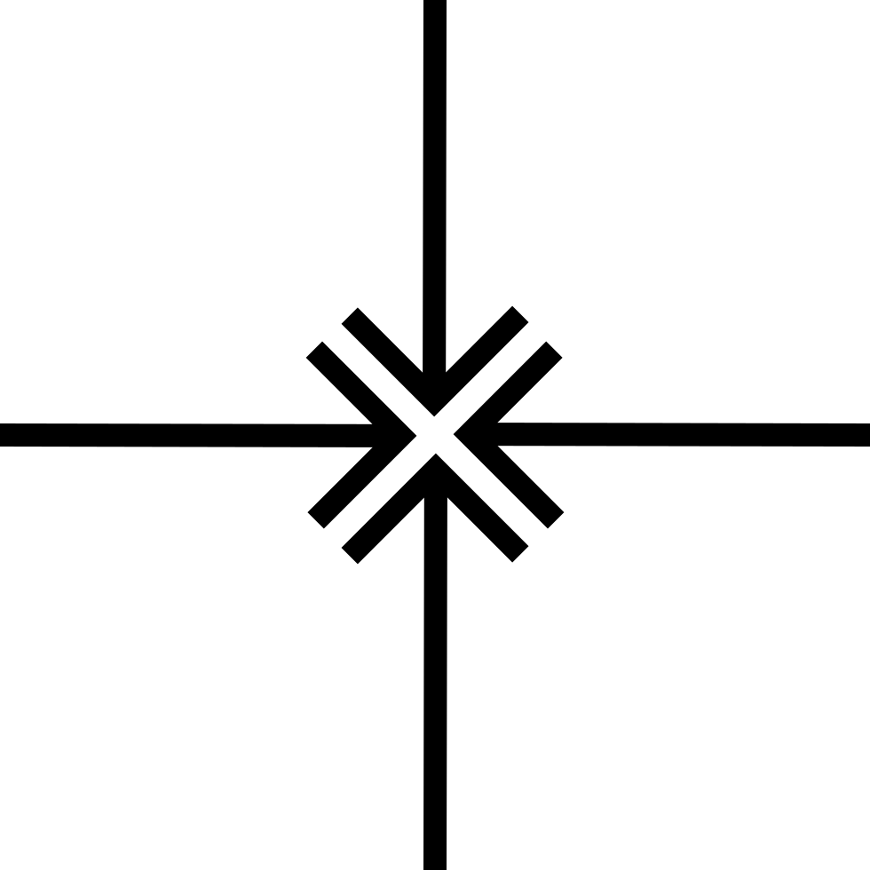 Four Arrows Pointing To Center
