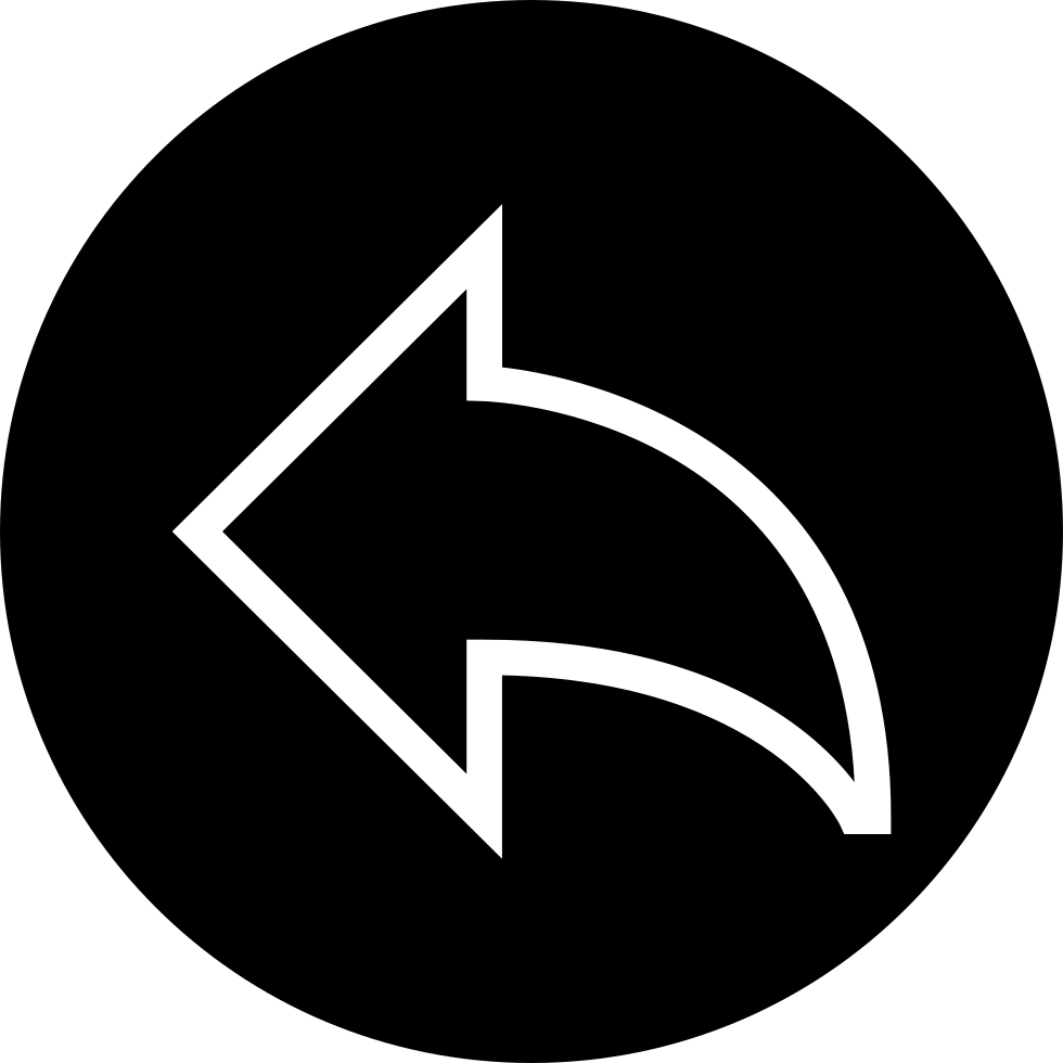 Curved Left Arrow Round Button