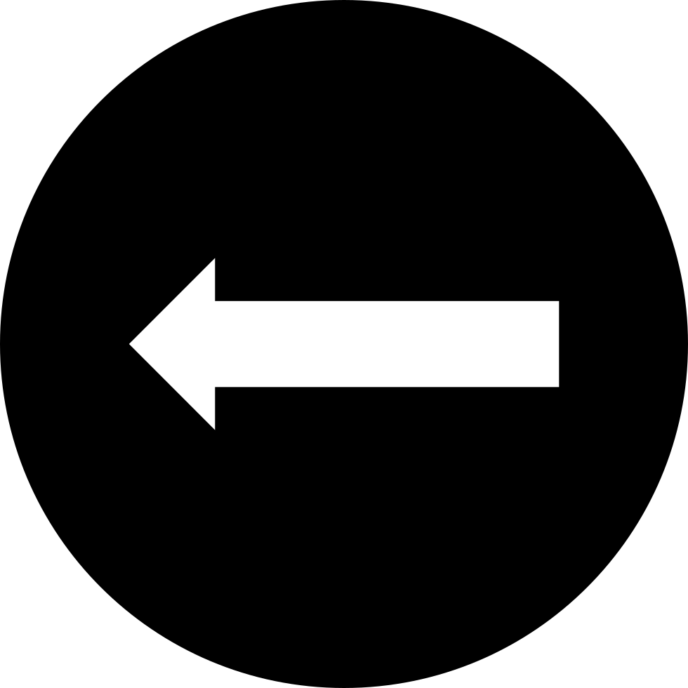 Arrow Pointing To Left In A Circle