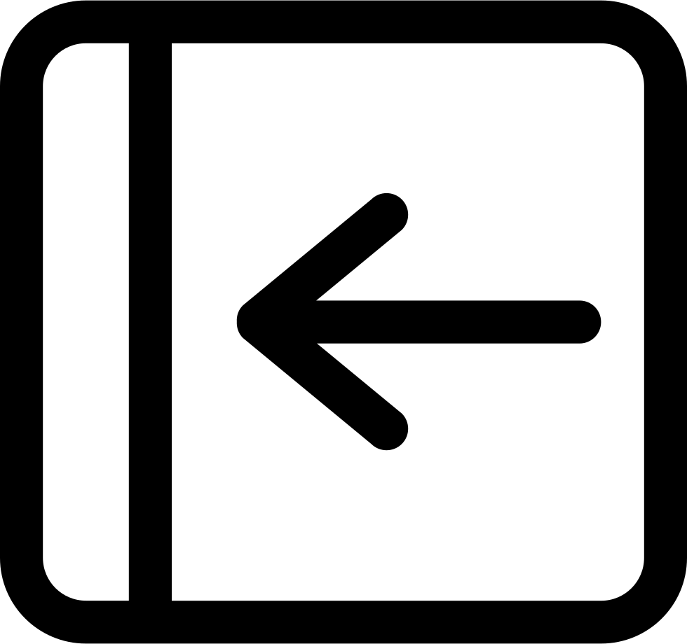 Left Arrow Rounded Outlined Button Interface Symbol