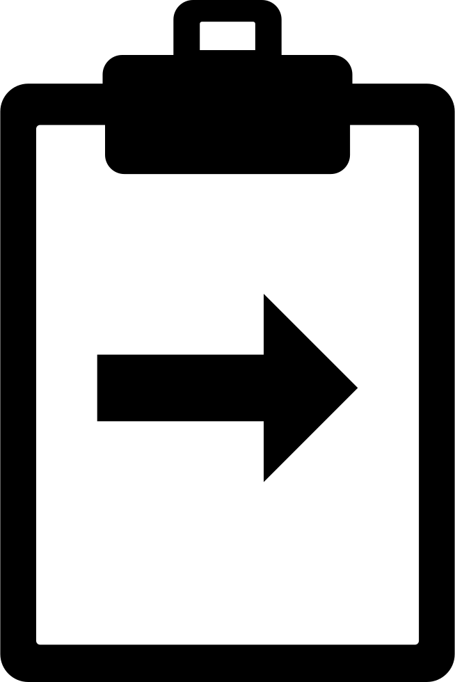 Clipboard With Right Arrow
