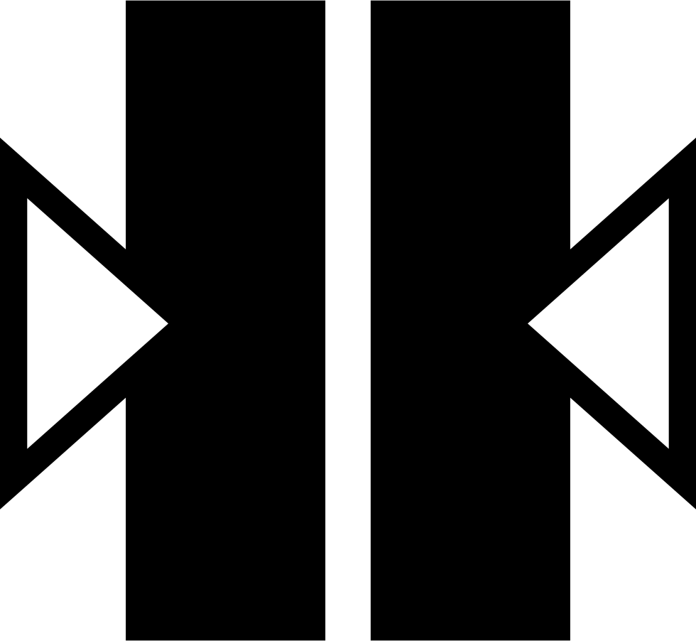 Two Vertical Bars With Two Arrows At Sides Pointing To The Center