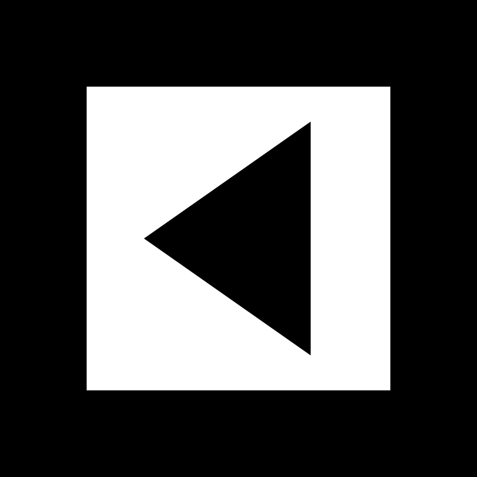 Back Arrow Triangle In Gross Square Button