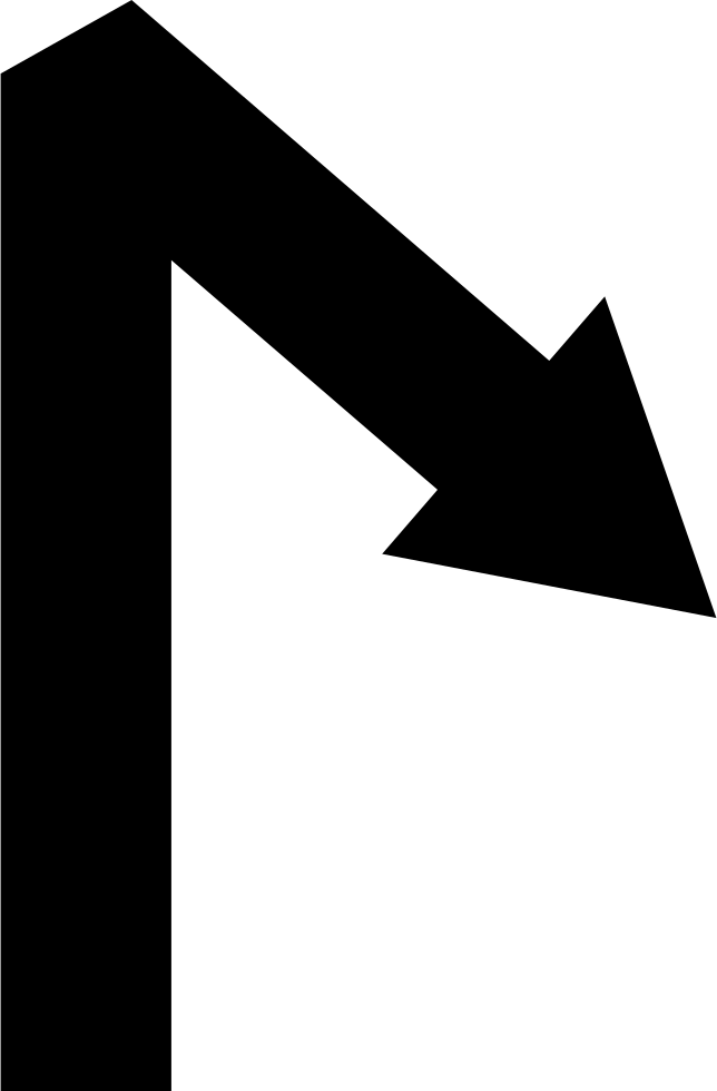 Arrow Straight Line Symbol With An Angle