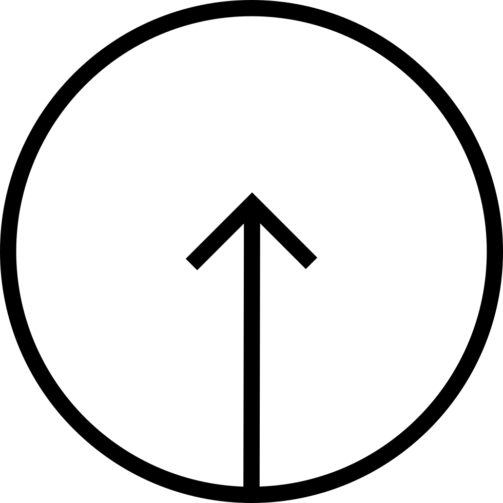 Arrow Up Inside A Circular Button