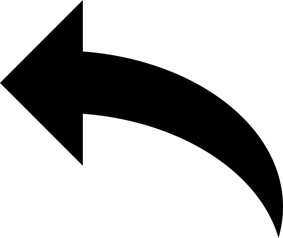 Curved Back Arrow