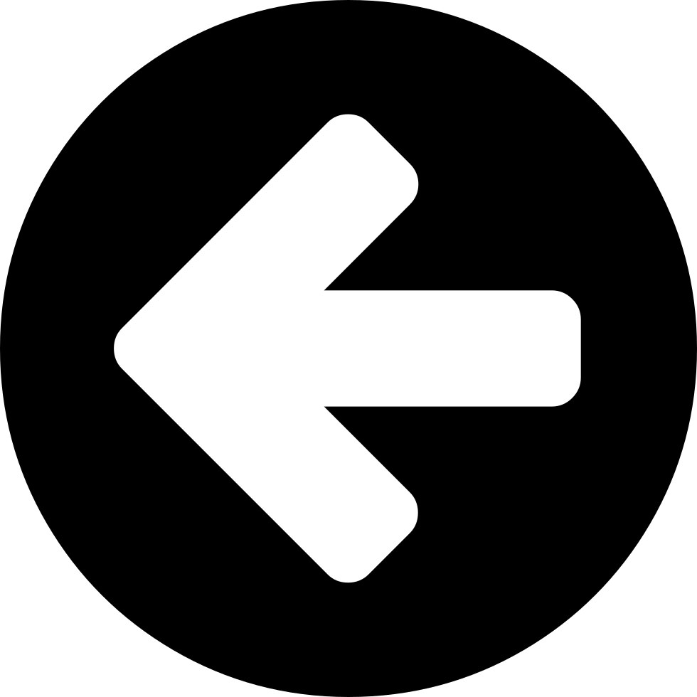 Circle With An Arrow Pointing To Left
