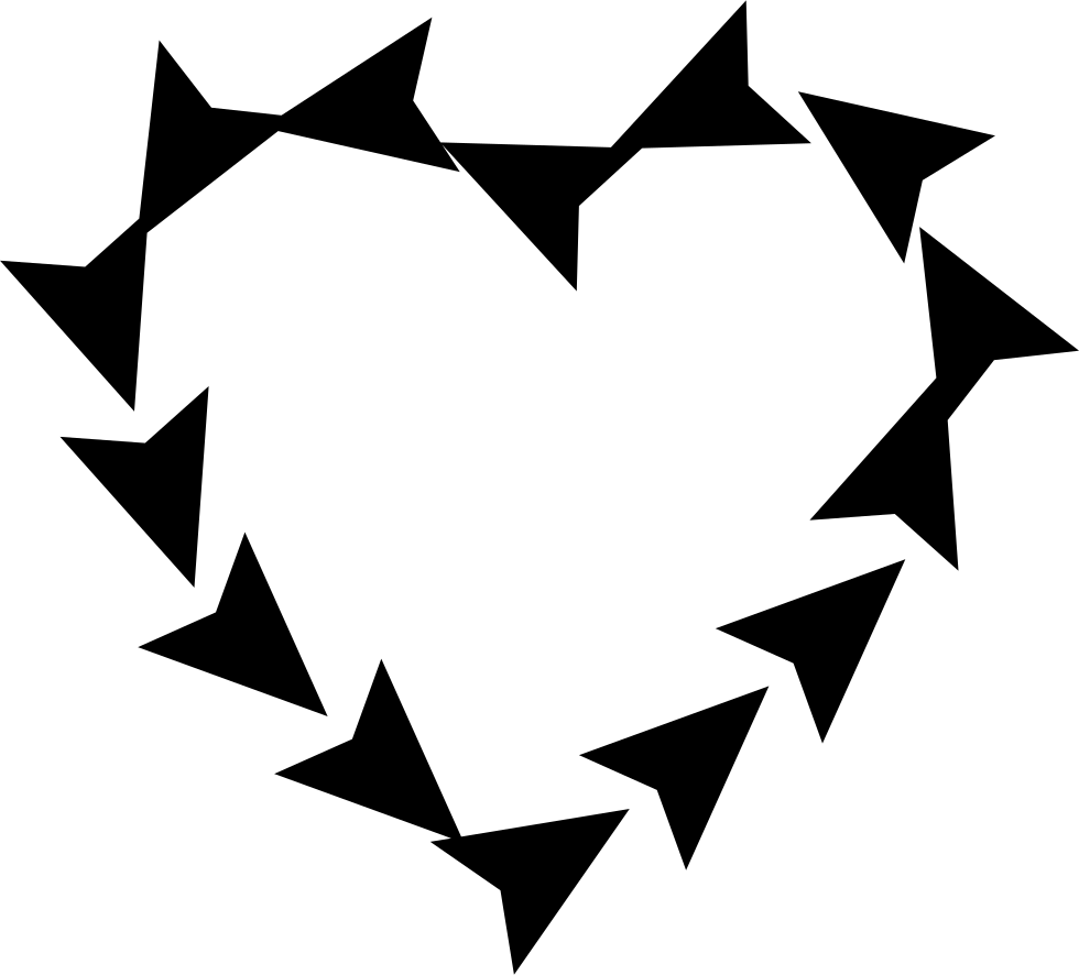 Heart Spin Of Small Triangular Arrows
